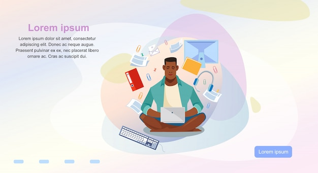 Online-kurse-cartoon-vektor-webseiten-vorlage Premium Vektoren