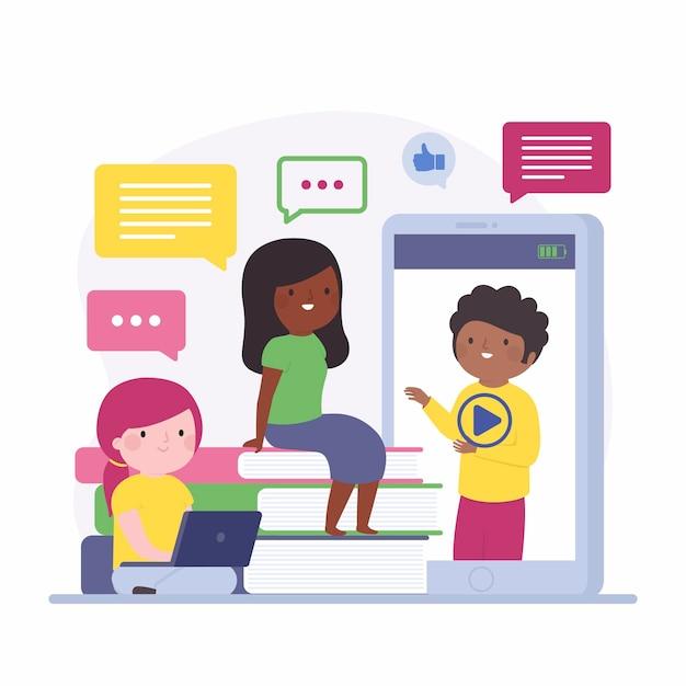 Online-kurse und tutorials Kostenlosen Vektoren
