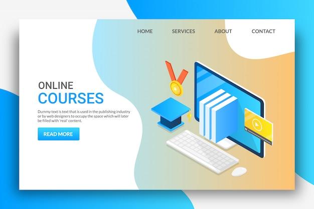 Online kurse Premium Vektoren