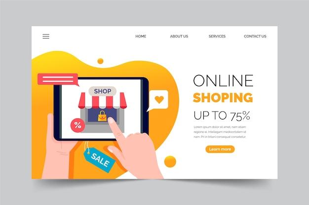 Online-landingpage einkaufen Kostenlosen Vektoren