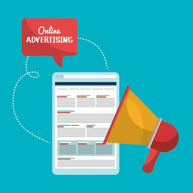 Online-marketing und e-commerce-vertrieb Kostenlosen Vektoren