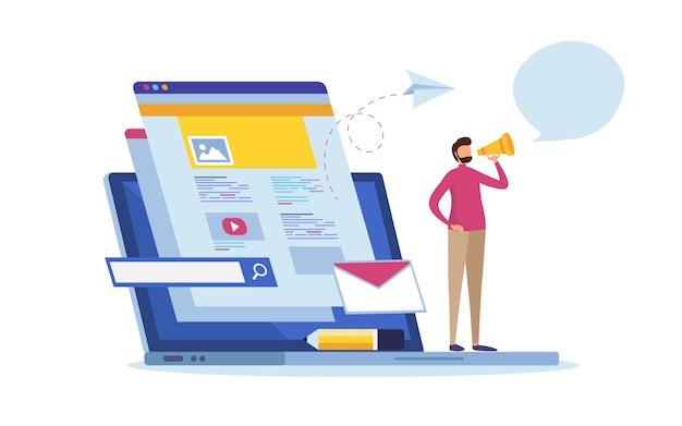 Online nachrichten Premium Vektoren