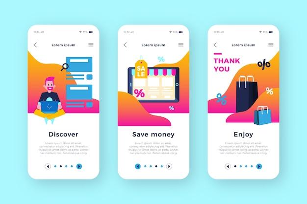 Online-onboarding-app kaufen Kostenlosen Vektoren