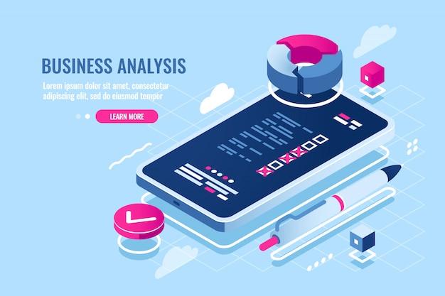 Online-organizer für mobiltelefonanwendungen, checkliste auf dem bildschirm des smartphones, aufgabenliste Kostenlosen Vektoren