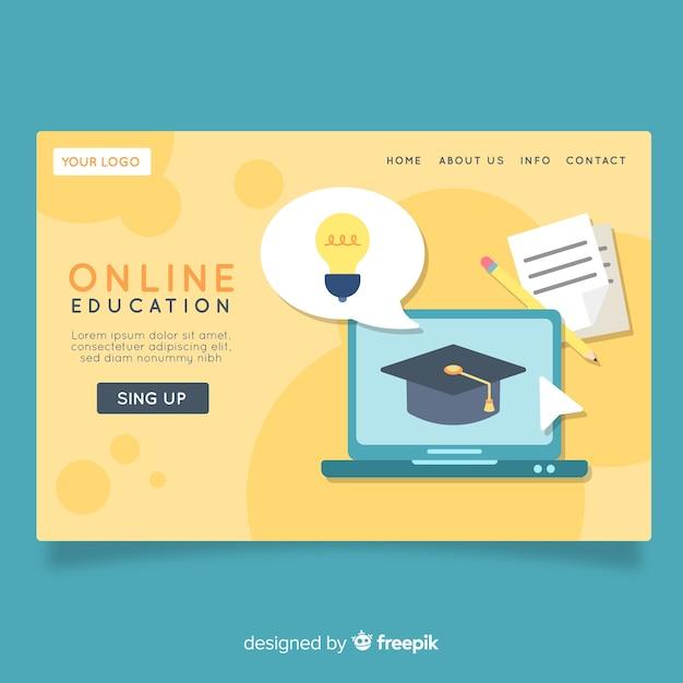 Online-schulungsseite Kostenlosen Vektoren