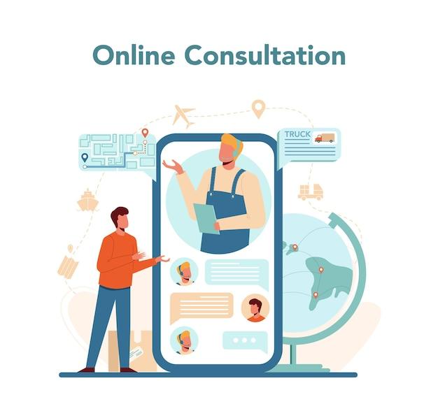 Online-service oder plattform für logistik und lieferservice Premium Vektoren