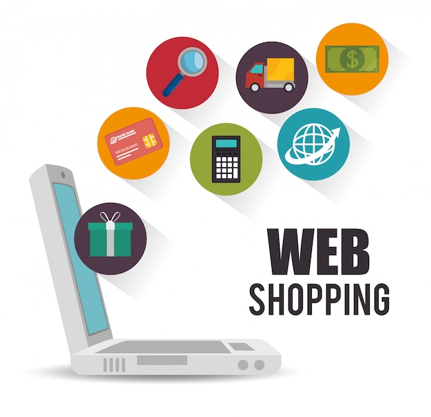 Online-shopping-design Premium Vektoren