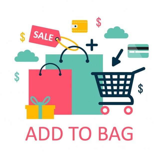 Online-shopping-illustration Kostenlosen Vektoren
