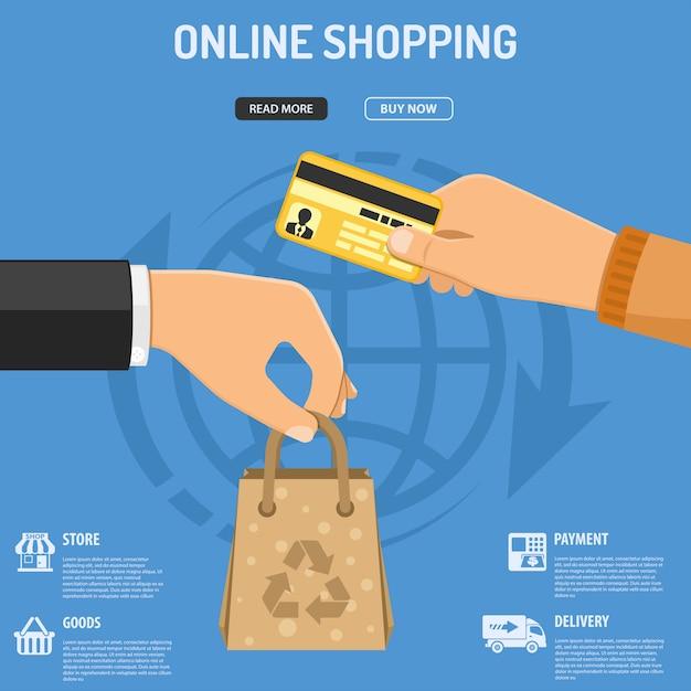 Online-shopping-konzept Premium Vektoren