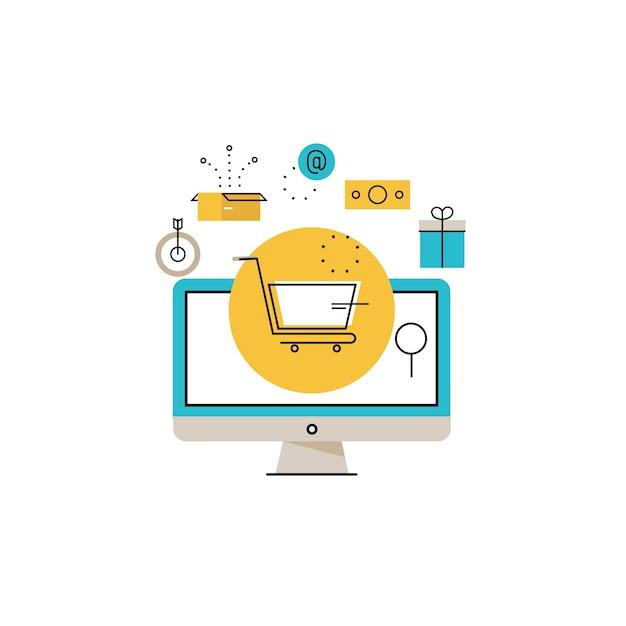 online shopping online bestellung und zahlung e commerce online kauf lieferung prozess. Black Bedroom Furniture Sets. Home Design Ideas