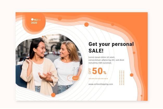 Online-shopping-service-banner-vorlage Kostenlosen Vektoren