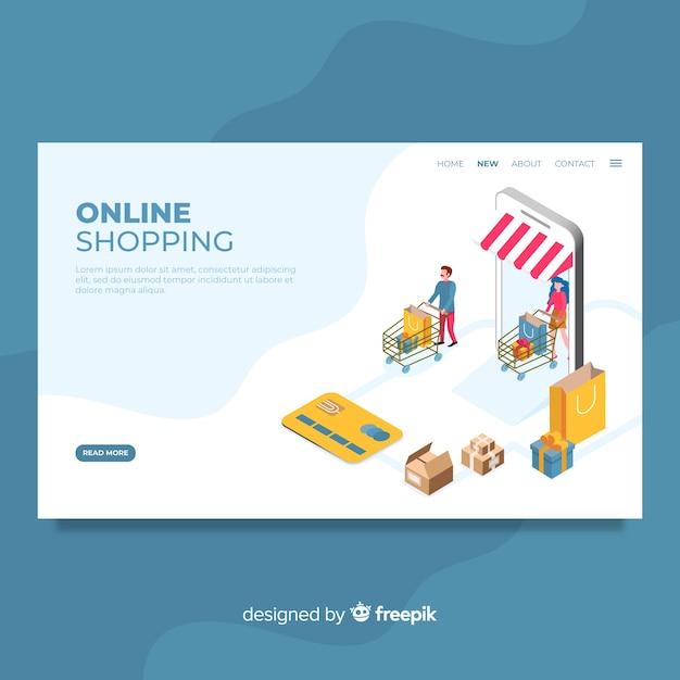 Online-shopping-zielseite Kostenlosen Vektoren