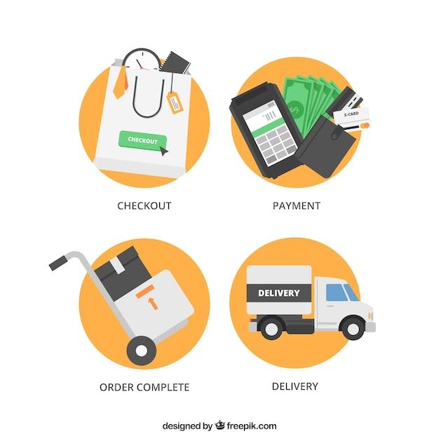 Online-shopping Kostenlosen Vektoren