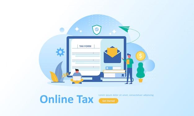 Online-steuerzahlung Premium Vektoren