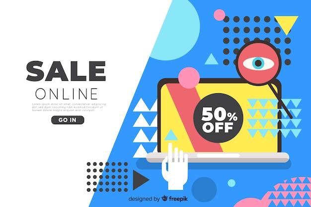 Online-verkauf landing page templat Kostenlosen Vektoren