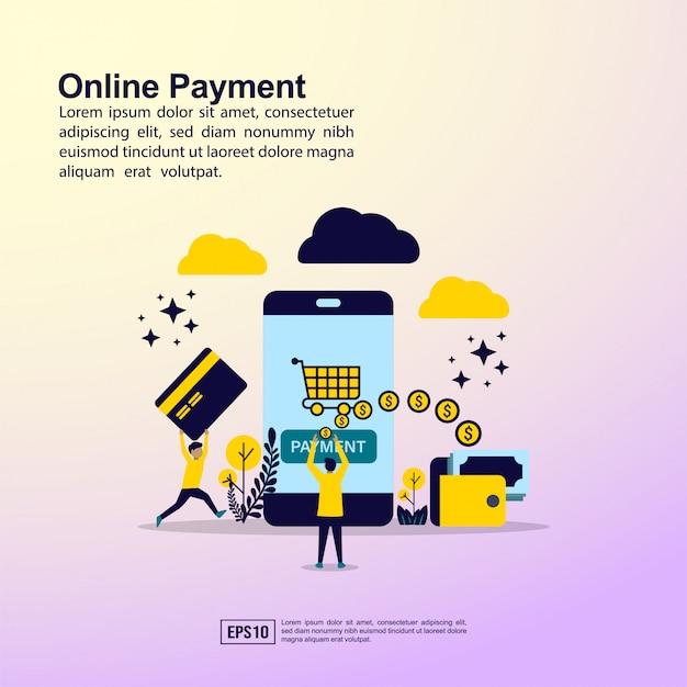 Online-zahlungsbanner Premium Vektoren