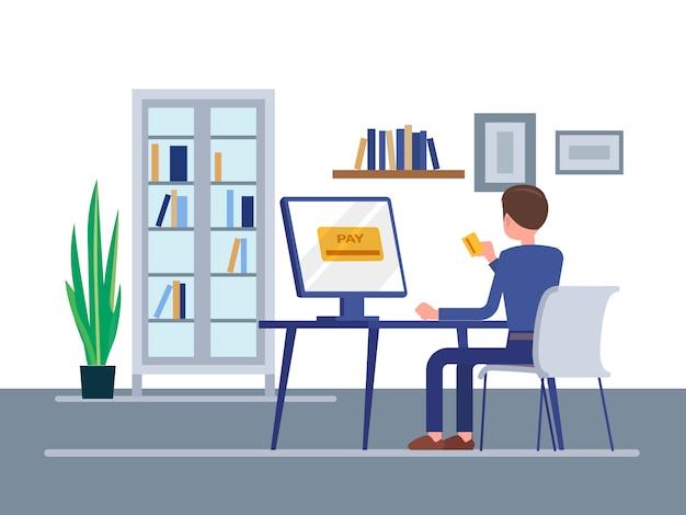 Online-zahlungskonzept Premium Vektoren