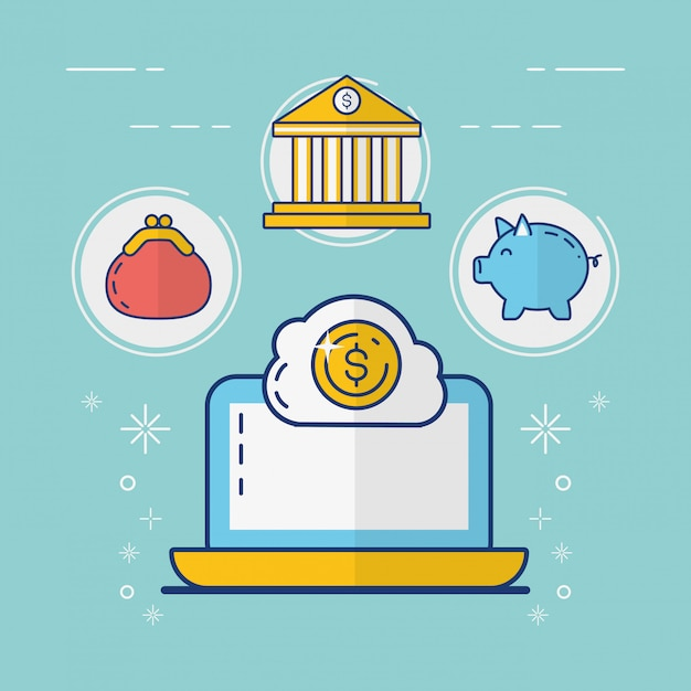 Online-zahlungskonzept Kostenlosen Vektoren