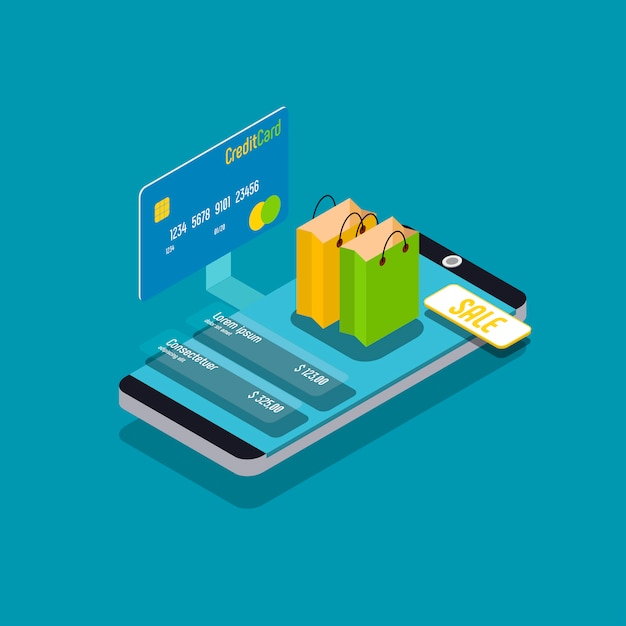 Onlinebezahlung Premium Vektoren