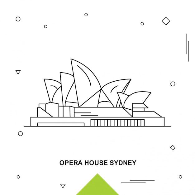 Opernhaus Premium Vektoren