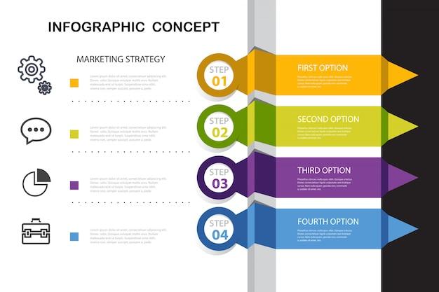 Optionale infografik des unternehmens mit elementen Kostenlosen Vektoren