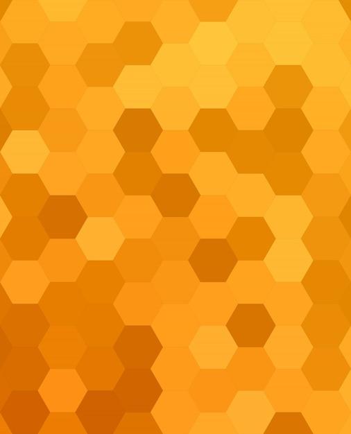 Orange abstrakten sechseckigen honig kamm hintergrund Kostenlosen Vektoren