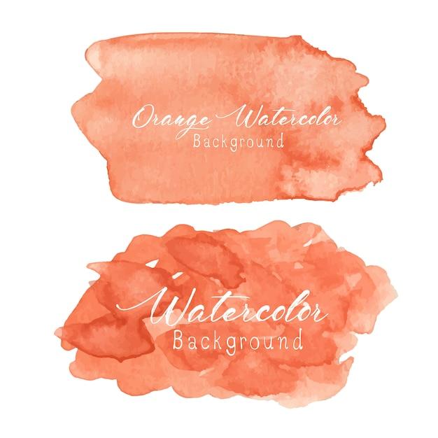 Orange abstrakter aquarellhintergrund. Premium Vektoren
