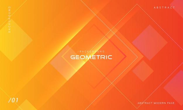 Orange abstrakter geometrischer form-hintergrund Premium Vektoren