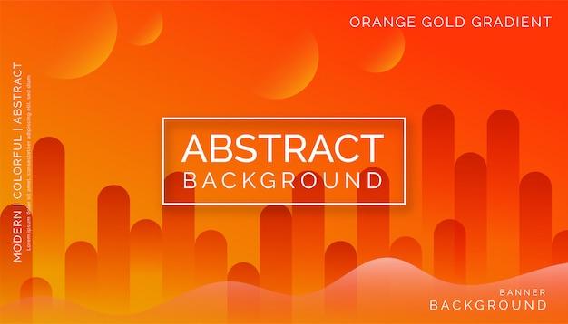 Orange abstrakter hintergrund, modernes buntes dynamisches design Premium Vektoren
