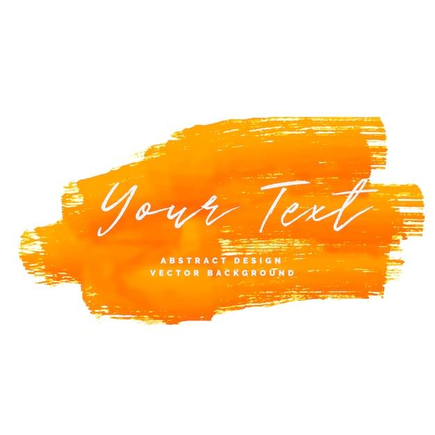 Orange aquarellfarbe anschlaghintergrund Kostenlosen Vektoren