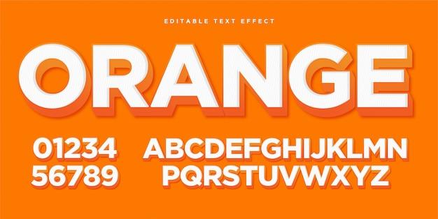Orange art-effekt des text-3d Premium Vektoren