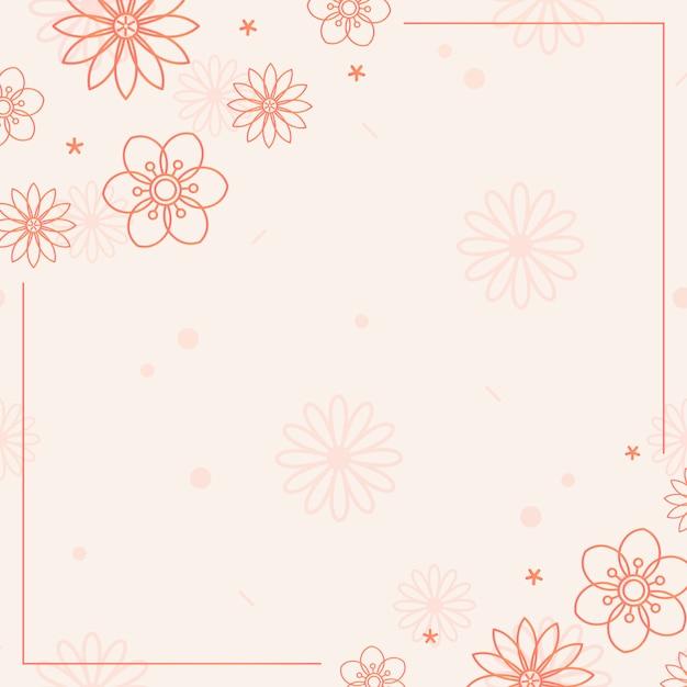 Orange blumenmuster Kostenlosen Vektoren