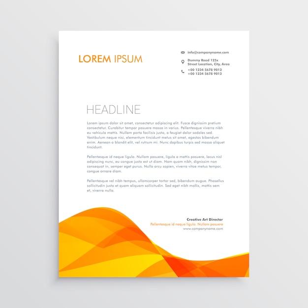 Orange Business Briefkopf Design Vorlage Download Der Kostenlosen