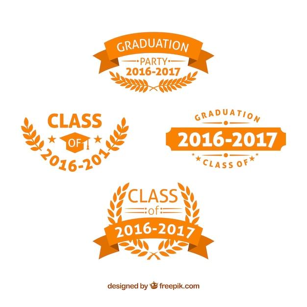 Orange college-logos Kostenlosen Vektoren