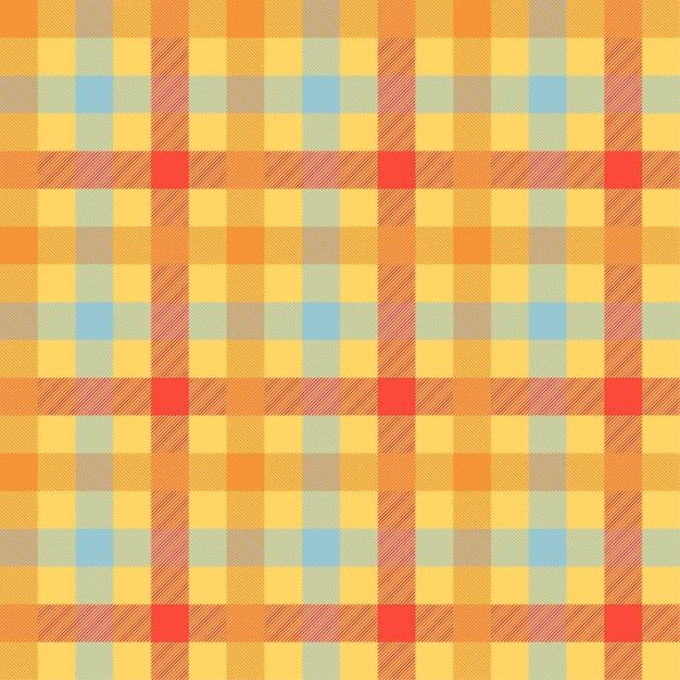 Orange farbnahtloses vektormuster des schottenstoffs Premium Vektoren