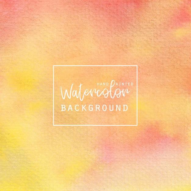 Orange Farbverlauf Aquarell Hintergrund Kostenlose Vektoren