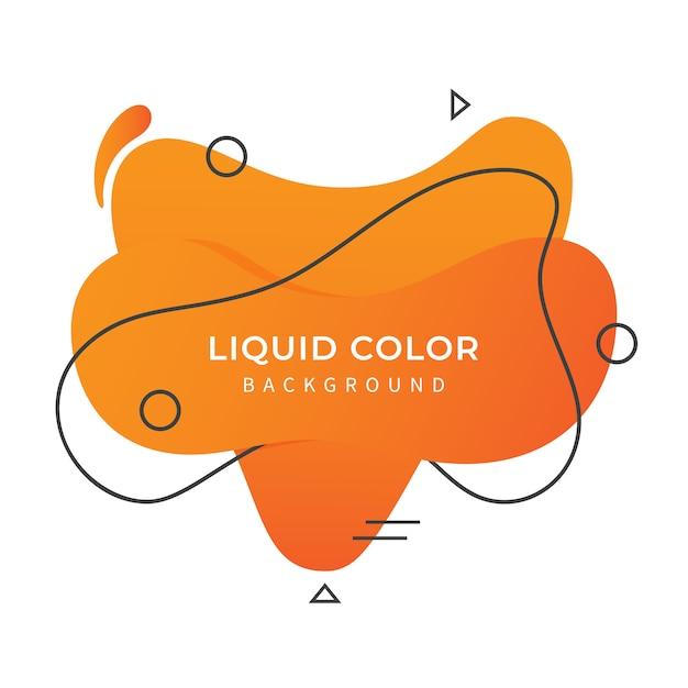 Orange flüssiger farbhintergrund Premium Vektoren