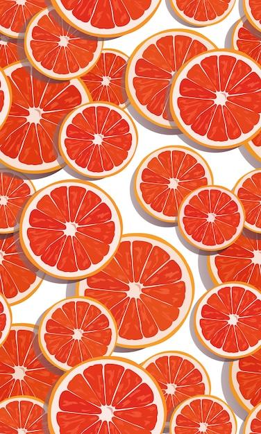 Orange früchte der nahtlosen musterscheibe Premium Vektoren