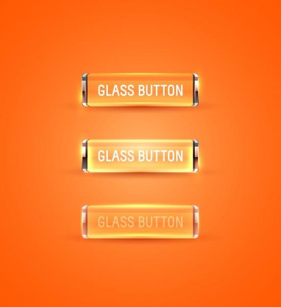Orange glas buttons collection Kostenlosen Vektoren