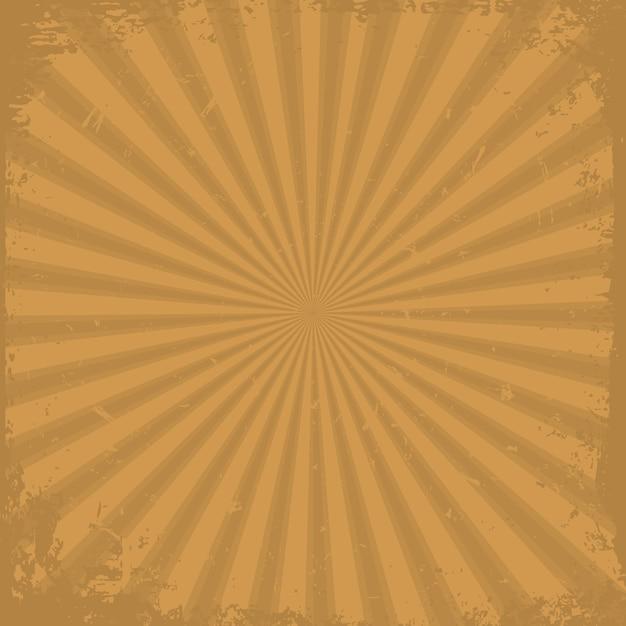 Orange grunge strahlen hintergrund Premium Vektoren