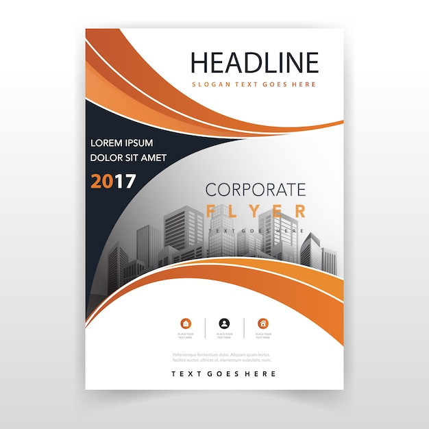 Orange Jahresbericht Vorlage Kostenlose Vektoren