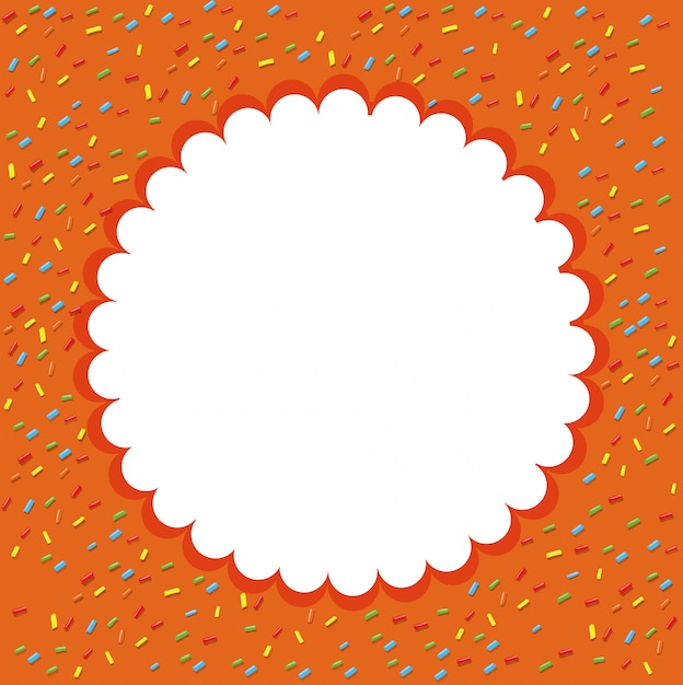 Orange konfetti vorlage hintergrund Kostenlosen Vektoren