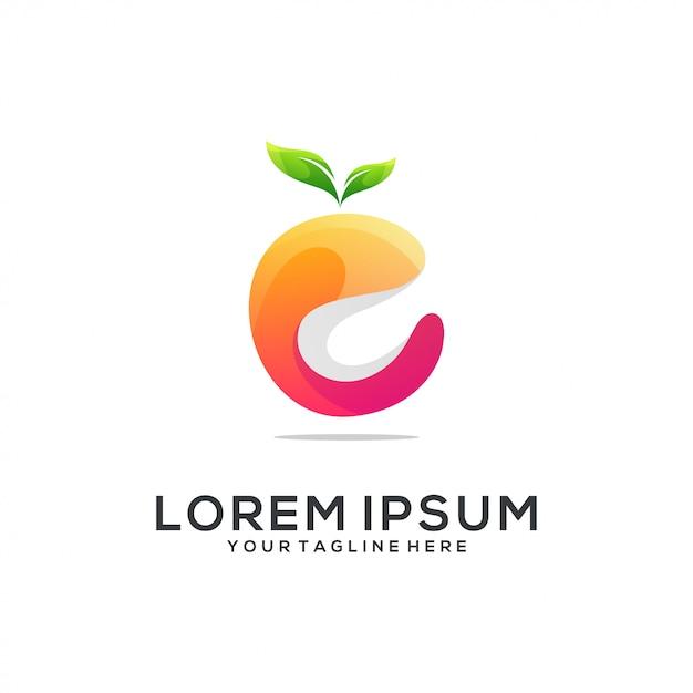 Orange logo abstrakt Premium Vektoren