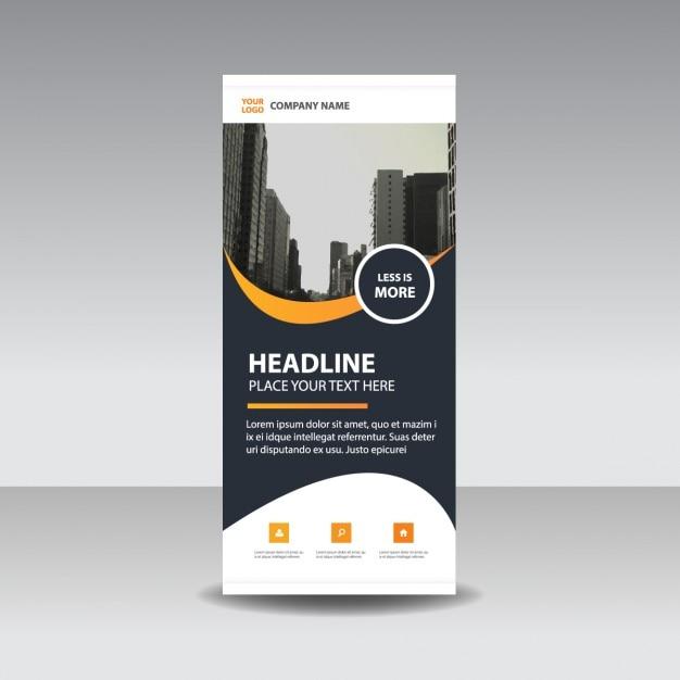 Orange schwarz kreative Roll up Banner-Vorlage | Download der ...