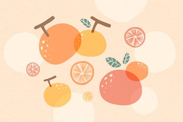 Orange sommerhintergrund Kostenlosen Vektoren