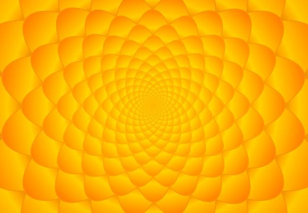 Orange und gelber fibonacci-hintergrund Premium Vektoren