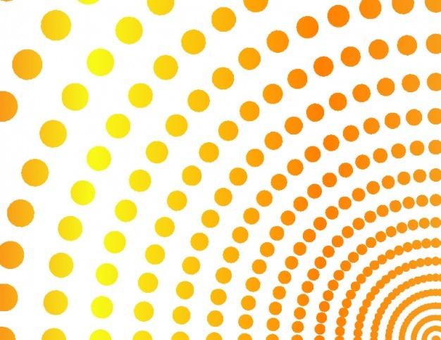 orange viertelkreise von punkten hintergrund download