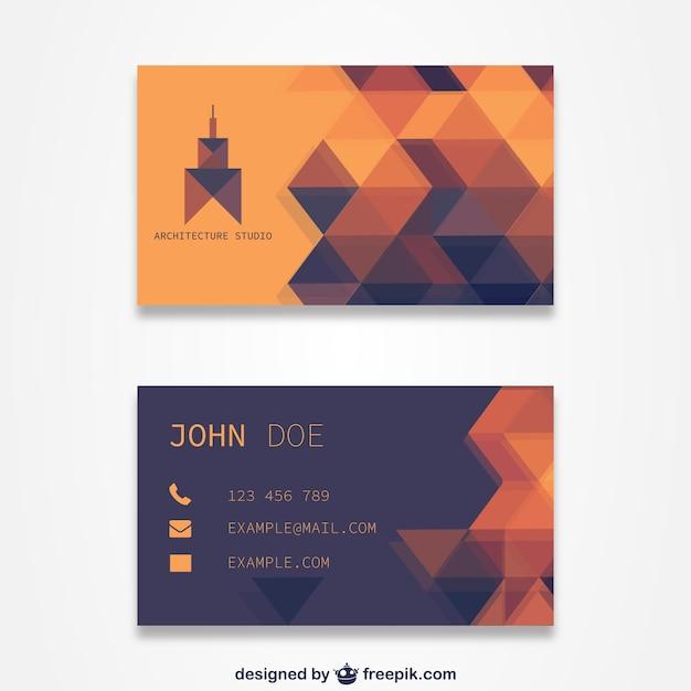 Orange Visitenkarten Vorlage Download Der Kostenlosen Vektor