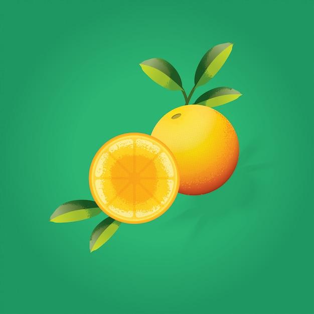 Orangen Premium Vektoren
