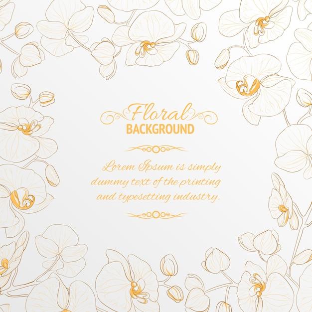 Orchideenrahmen. Kostenlosen Vektoren